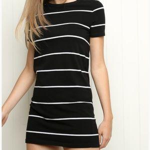 Brandy Melville Black & White Stripe TShirt Dress